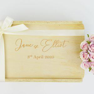Custom Double Champagne Gift Box