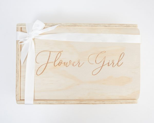 double champagne gift box custom engraved