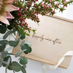 custom engraved gift box happily ever after