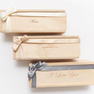 Single custom engraved gift boxes