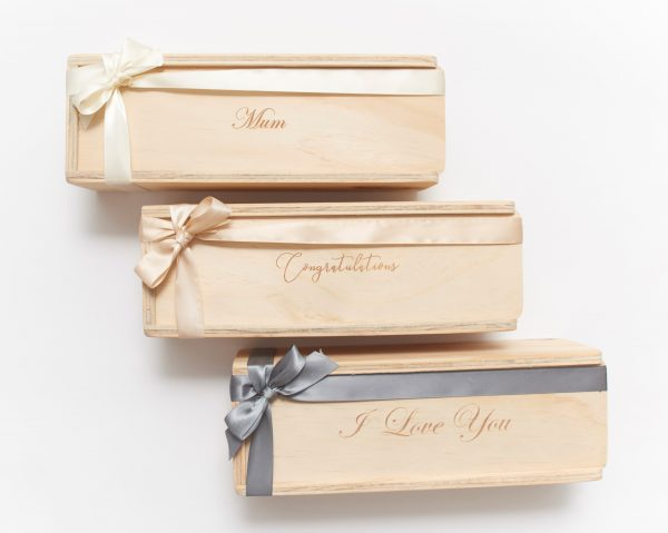 Single custom engraved gift boxes