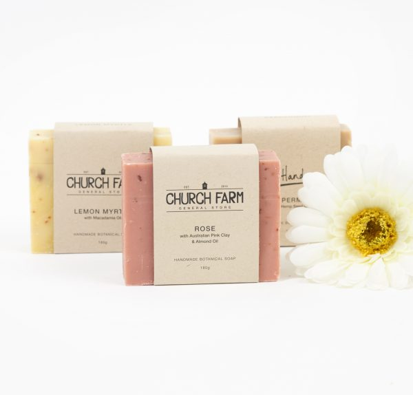 hand made botanical soaps from churchfarm general store