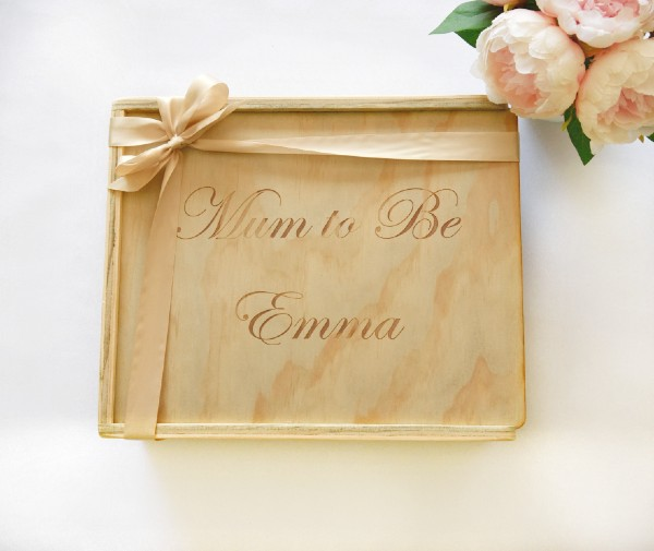 mum to be personalised custom engraved gift box