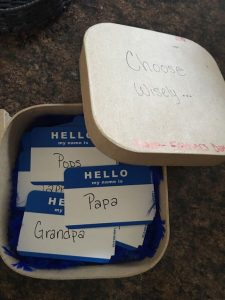 Grandfather pregnancy announcement card