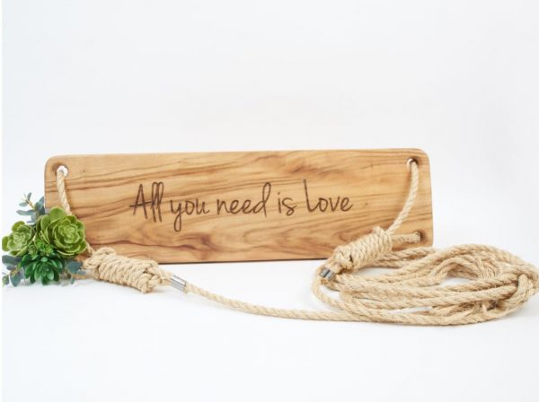 custom personalised wooden swing