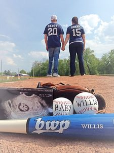 Baseball pregnancy announcement