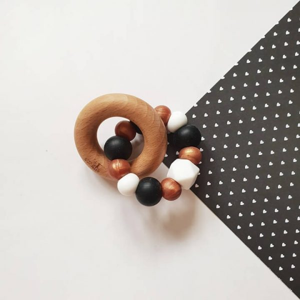 bronze silicone baby teether