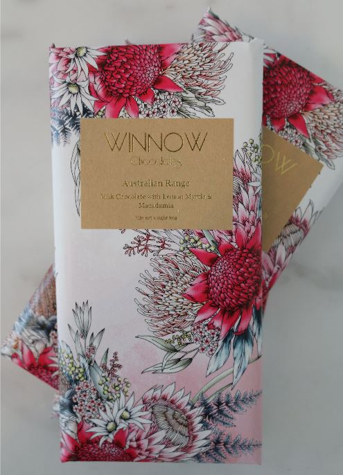 winnow chocolate handmade lemon myrtle and macadamia
