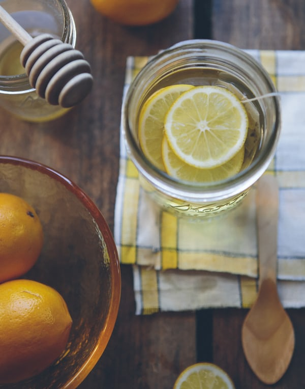lemon tea with ginger and honey