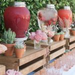 boho theming drinks station