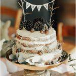 woodland themed cake
