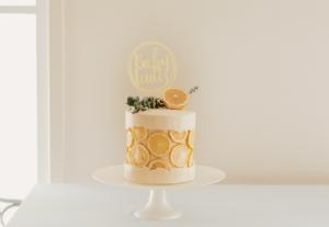 baby shower cake lemon