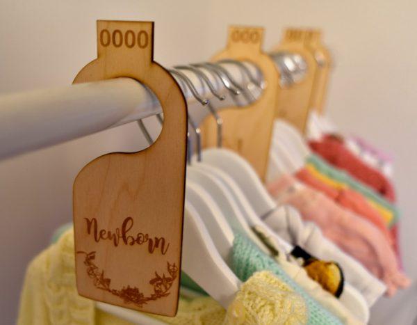 baby wardrobe dividers hanging in wardrobe separating clothing sizes