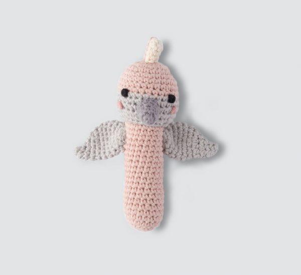 gabby galah crochet rattle front