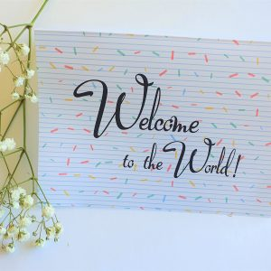 Welcome to the World confetti gift card