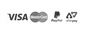 Payment options include visa, mastercard, paypal and afterpay