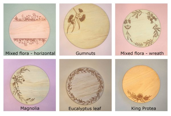 six designs to choose from for disc embellishments